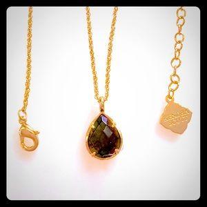 Kendra Scott Black Iridescent Necklace